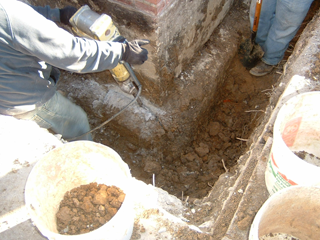 helical piers repair Installation